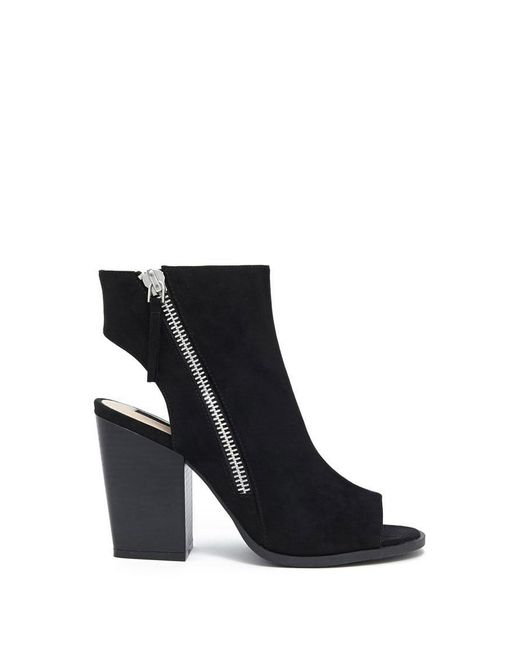 Forever 21   Black Faux Suede Cutout Ankle Boots   Lyst