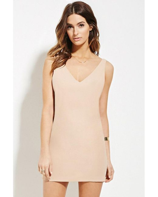 Forever 21   Natural Contemporary Mini Dress   Lyst