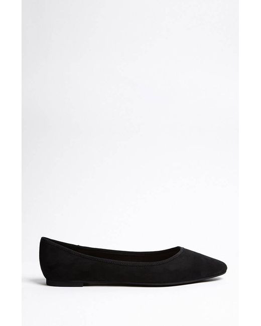 Forever 21 - Black Faux Suede Pointed Ballet Flats - Lyst