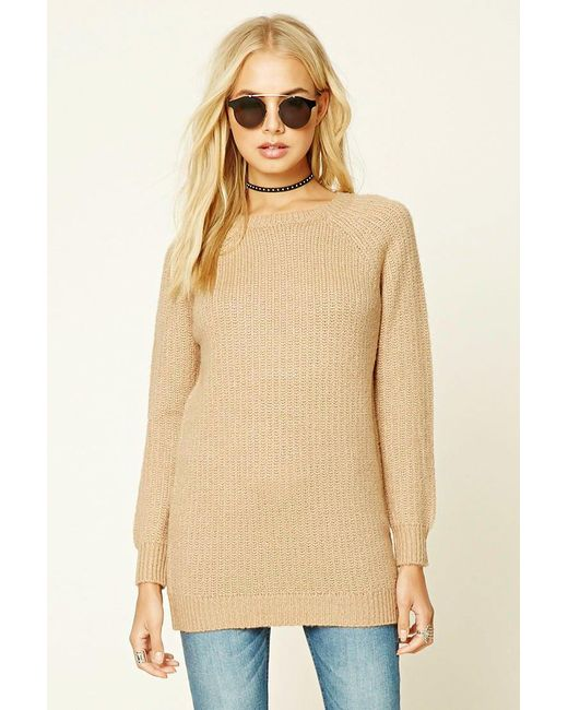 Forever 21 | Natural Marled Knit Sweater | Lyst