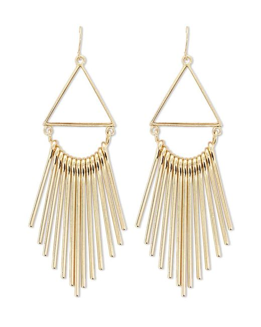 Forever 21 - Metallic Geo Drop Earrings - Lyst