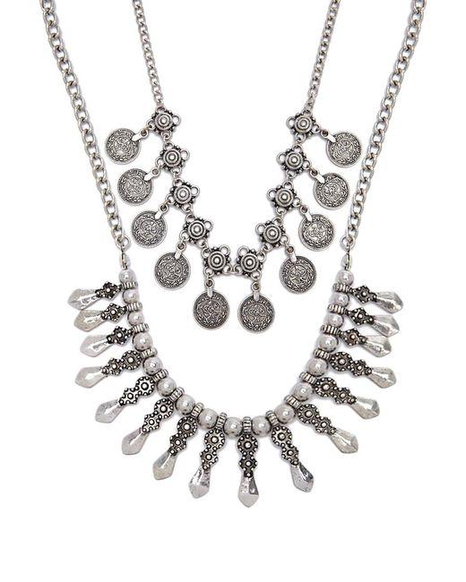 Forever 21 - Metallic Women's Burnished Ornate Necklace Set - Lyst