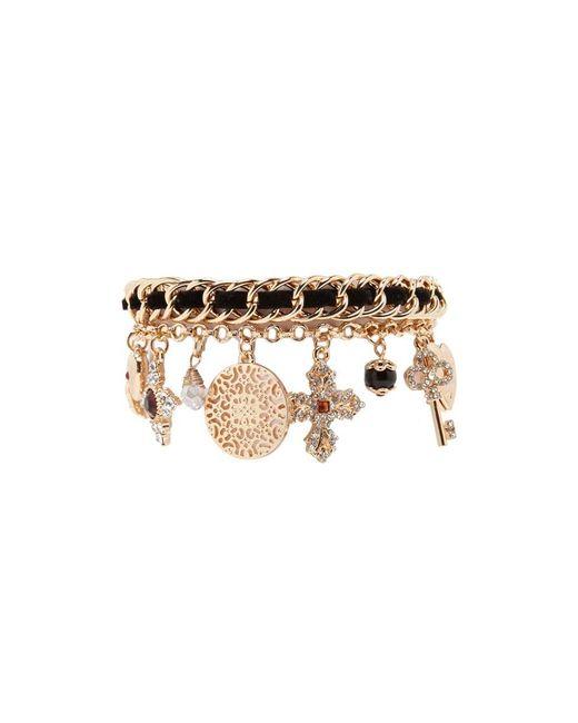 Forever 21   Metallic Cross Charm Bracelet   Lyst
