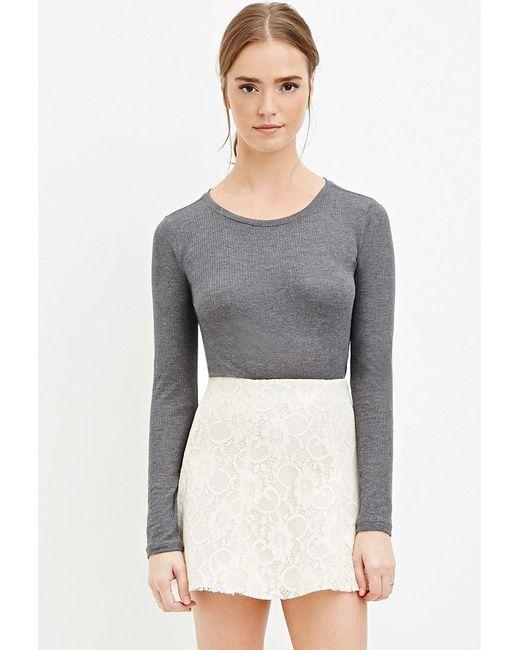 Forever 21 | White Floral Lace Skater Skirt | Lyst