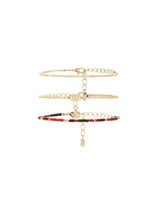 Forever 21 - Metallic Beaded Bracelet Set - Lyst
