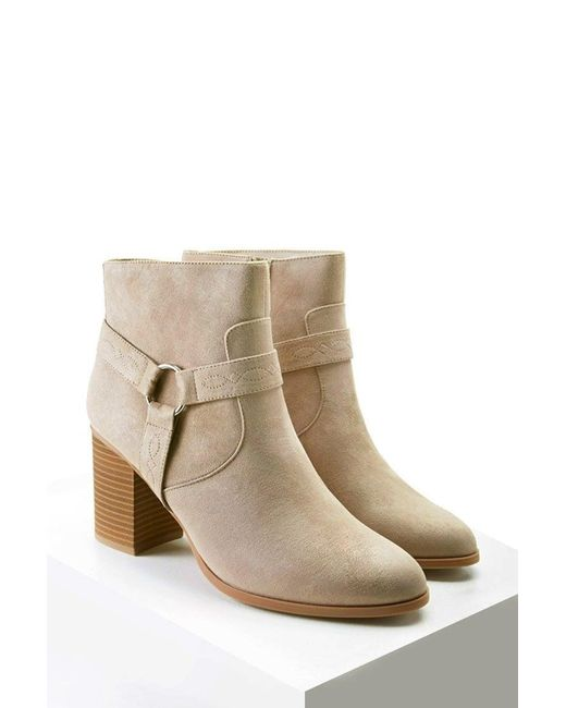 Forever 21 - Gray Embroidered Faux Suede Boots - Lyst