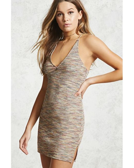 Forever 21 - Multicolor Women's Contemporary Metallic Mini Dress - Lyst