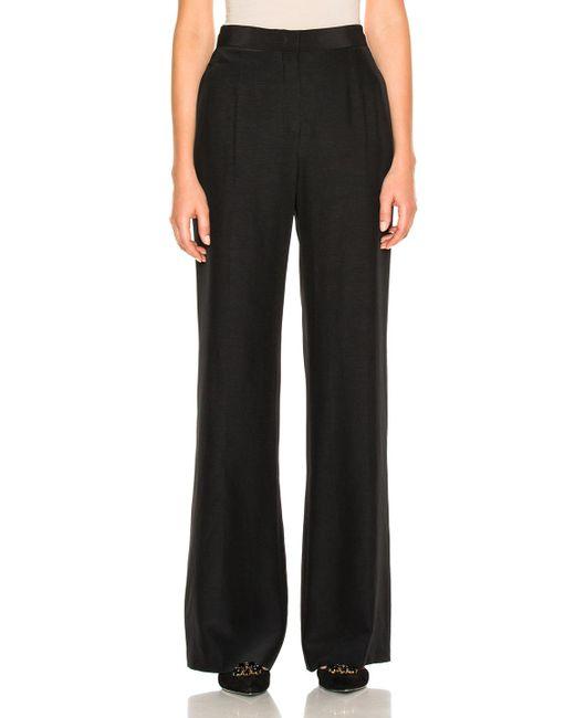 Alberta Ferretti | Black Silk Wide Leg Pants | Lyst
