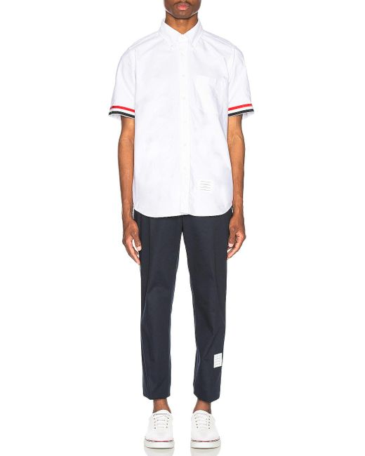 571c05e430c ... Thom Browne - White Collar Button Down Shirt for Men - Lyst ...