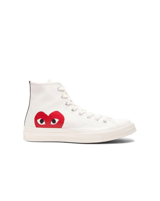 Comme des Garçons - White Play Chuck Taylor Canvas High-Top Sneakers - Lyst