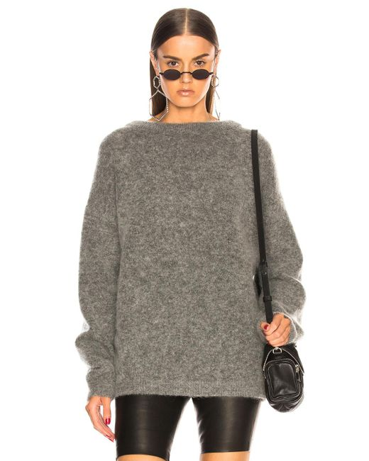 Acne - Gray Dramatic Mohair Sweater - Lyst