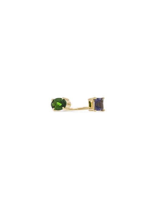 Ileana Makri - Metallic Double Stone Ring - Lyst