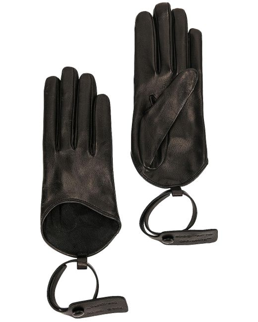 Off-White c/o Virgil Abloh Black Nappa Gloves