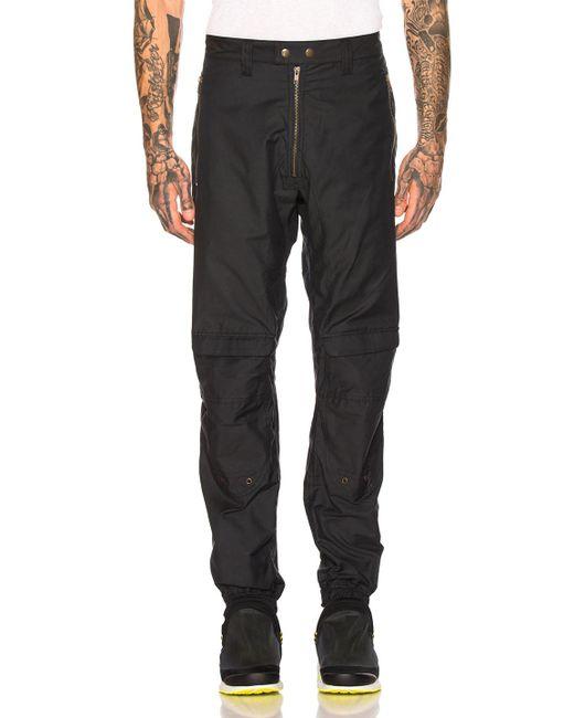 GmbH Blue Cargo Exposed Zipper Trousers for men