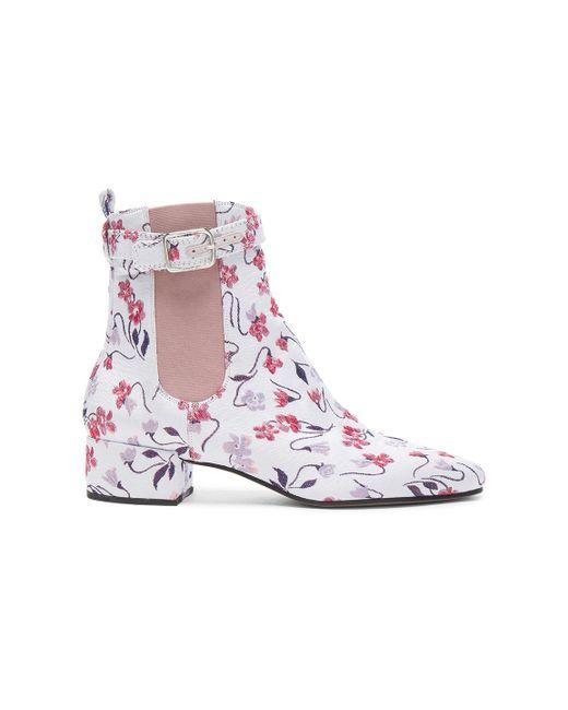 Altuzarra | Purple Jacquard Parnassus Chelsea Boots In Lilac Multi | Lyst