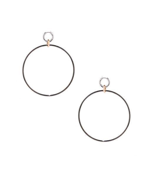Spinelli Kilcollin - Metallic Altraire Noir Hoop Earrings - Lyst