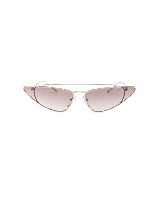 Prada - Multicolor Low Angle Cut Sunglasses - Lyst