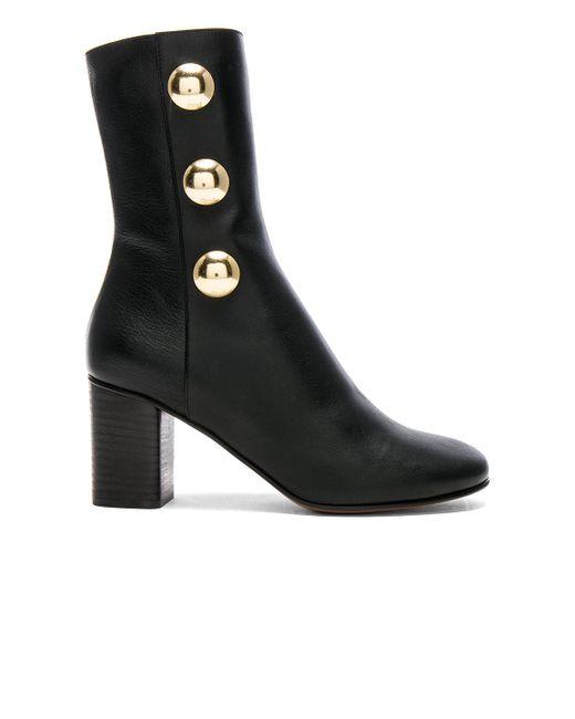 Chloé - Black Leather Orlando Boots - Lyst