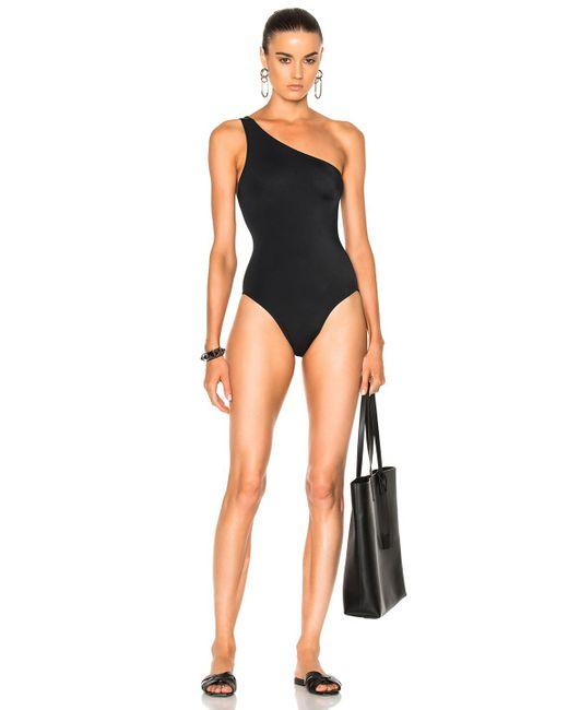 Norma Kamali | Black One Shoulder Mio Swimsuit | Lyst