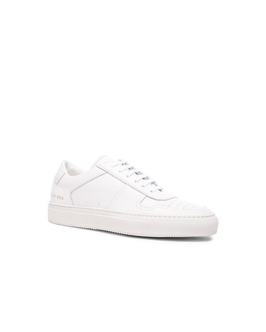 Common Projects - White Leather Bball Low Sneakers - Lyst