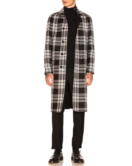 Burberry - Black Hollins Gaberdine To Tartan Car Coat - Lyst
