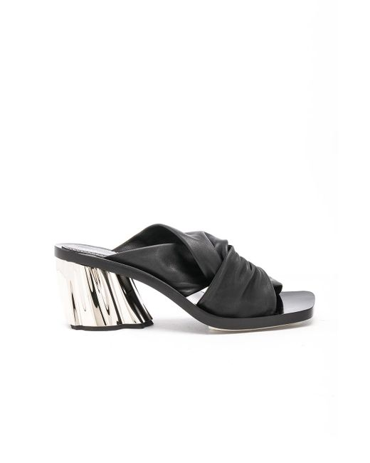 Proenza Schouler - Metallic Leather Knot Heeled Sandals - Lyst