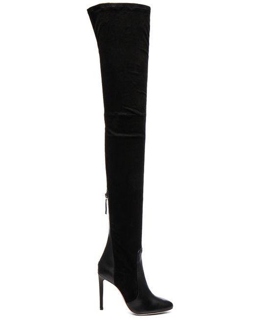 Aquazzura | Black All I Need Suede Boots | Lyst