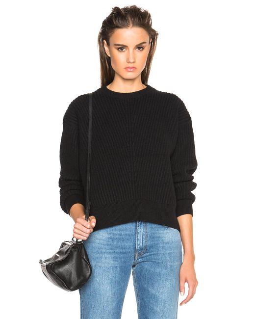 Acne   Black Java Rib Sweater   Lyst