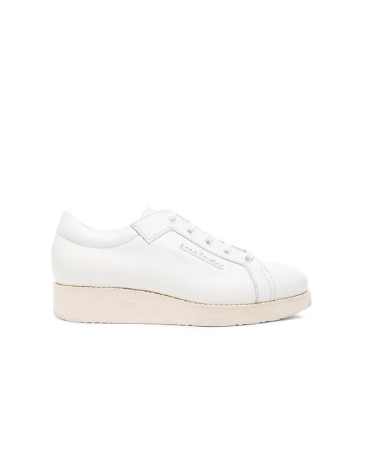 Acne | White Kobe Sneakers | Lyst