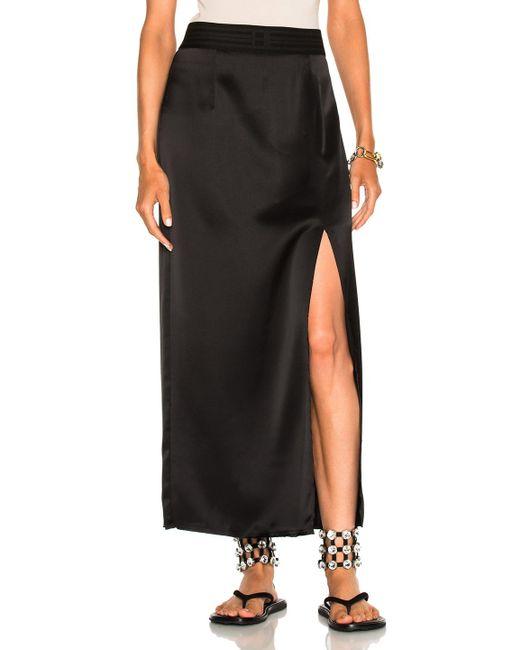 Baja East   Black Satin Back Crepe Skirt   Lyst