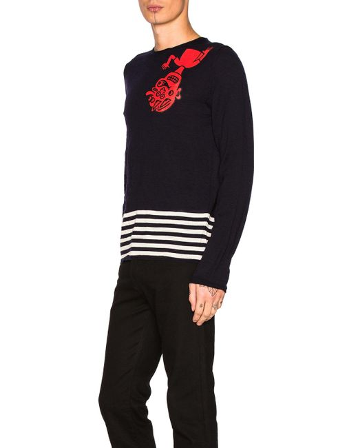 Fully Fashioned Knitting : Comme des garçons fully fashioned knit intarsia sweater in