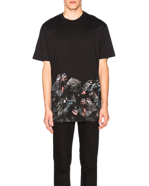 Givenchy | Black Columbian-fit Screaming Monkey Cotton T-shirt | Lyst