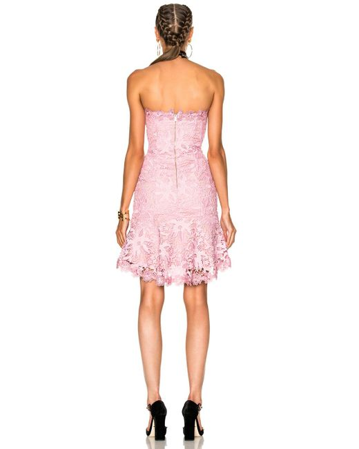 Nicholas Bellflower Strapless Mini Dress In Peony Pink in ...
