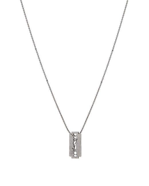 Saint Laurent | Metallic Monogram Necklace | Lyst