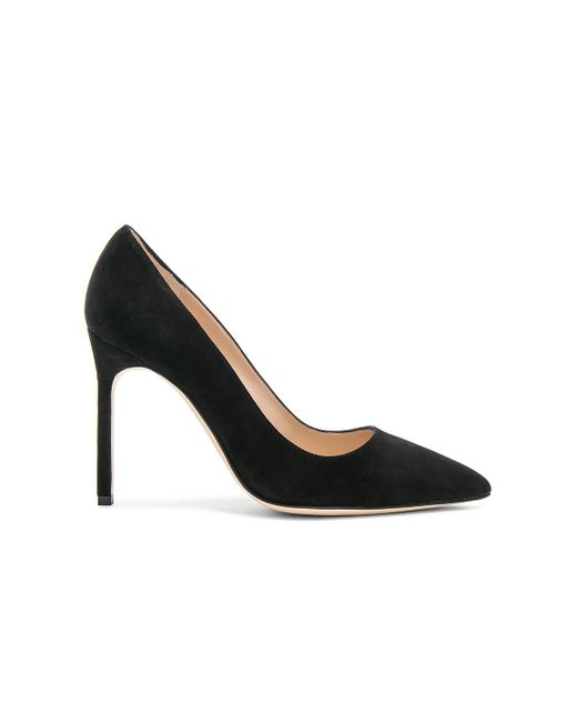 Manolo Blahnik | Black Bb 105 Suede Pumps | Lyst
