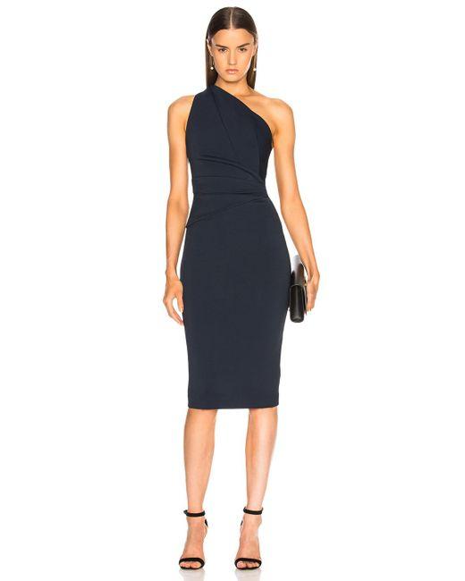 Nicholas - Blue Bandage One Shoulder Dress - Lyst