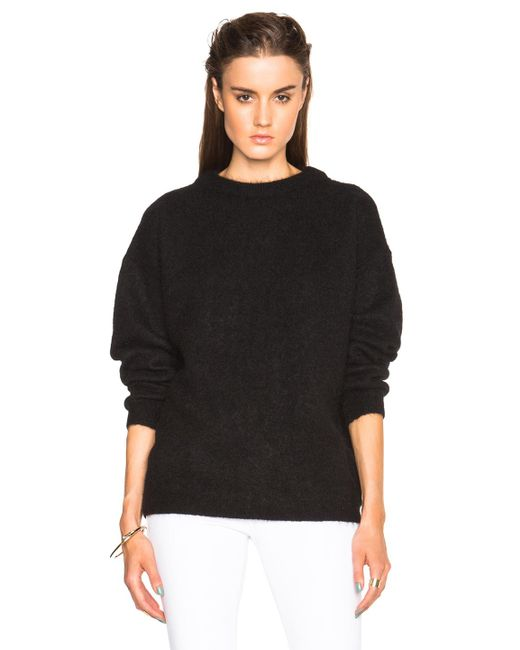 Acne - Black Dramatic Mohair Sweater - Lyst