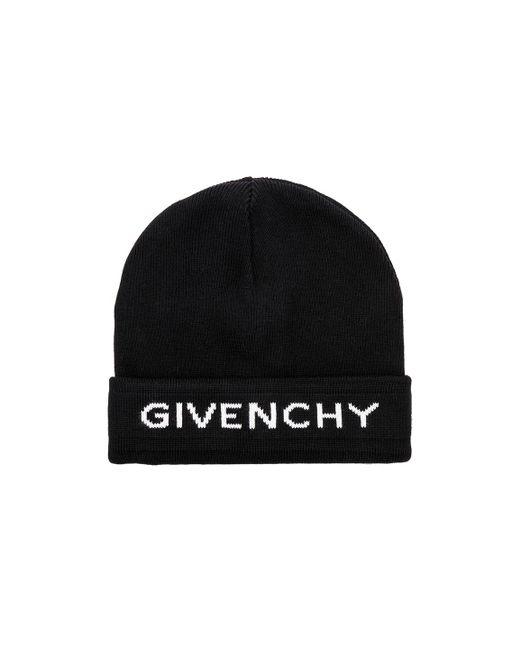 Givenchy - Black Logo Beanie for Men - Lyst