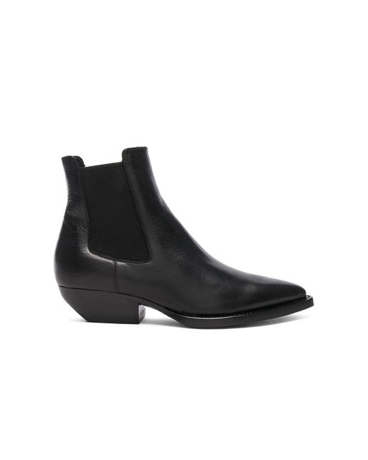 Saint Laurent - Black Theo Leather Chelsea Boots - Lyst