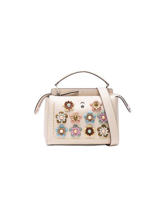 Fendi | Multicolor Flower Embellished Dotcom Bag | Lyst