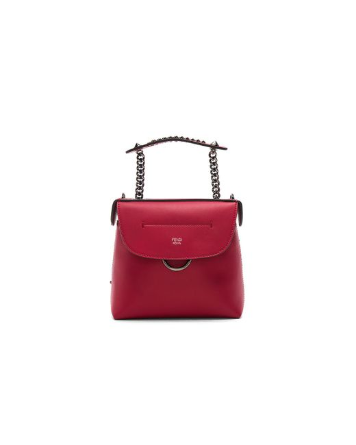 Fendi | Red Mini Back To School Backpack In Strawberry | Lyst