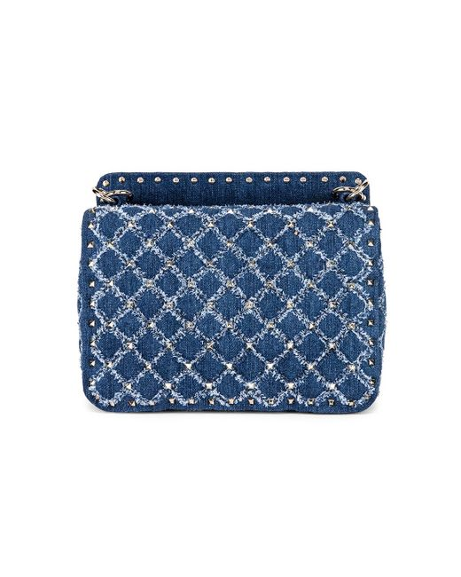 8092201c8d44 ... Valentino - Blue Rockstud Spike Medium Shoulder Bag - Lyst