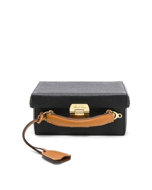 Mark Cross - Black Small Bicolor Saffiano & Smooth Calf Grace Box Bag - Lyst