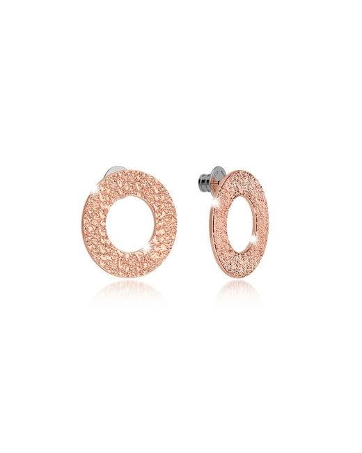 Rebecca - Pink R-zero Rose Gold Over Bronze Stud Drop Earrings - Lyst