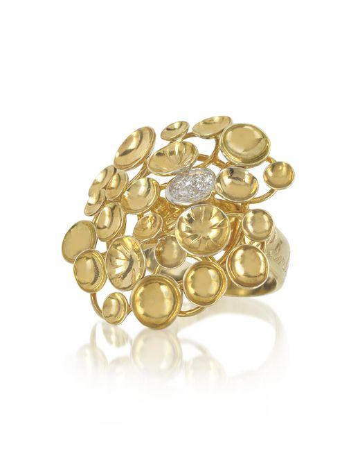 Orlando Orlandini | Metallic 18k Yellow Gold Large Bouquet Ring W/diamond | Lyst