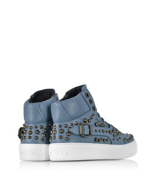 Jimmy choo Sneaker high Ruben leather studs t7Bm5qLXr