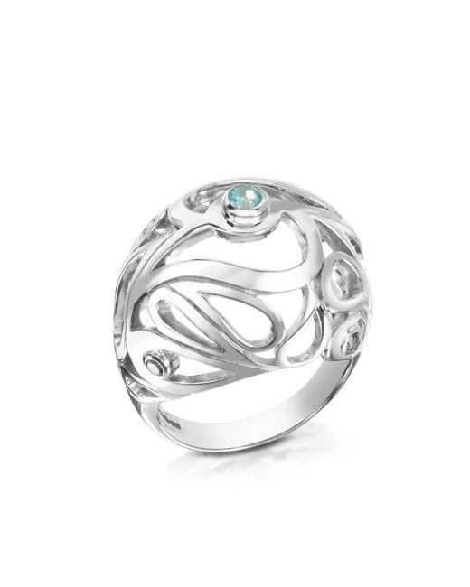Sho London - Metallic Sterling Silver Mari Splash Boule Ring - Lyst