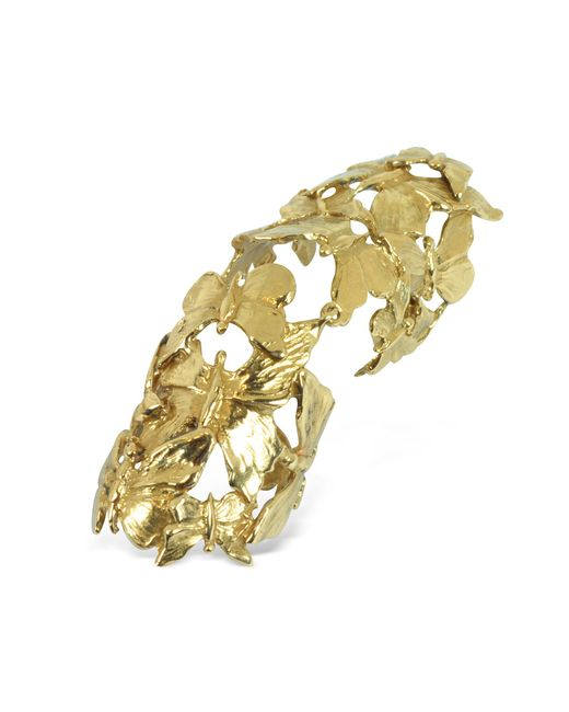 Bernard Delettrez - Metallic Goldtone Butterflies Articulated Bronze Ring - Lyst
