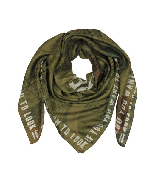 Givenchy | Green Cotton And Silk Signature Wrap | Lyst