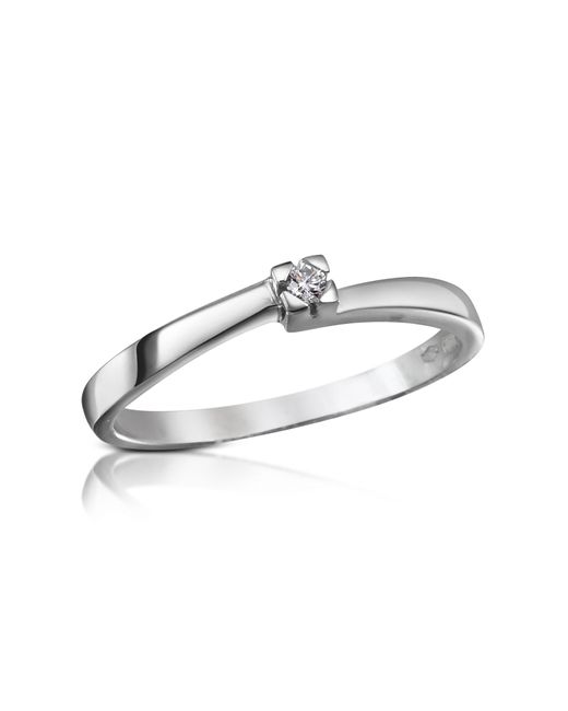 Forzieri - White 0.03 Ctw Diamond Solitaire Ring - Lyst